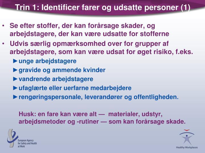 Trin 1: Identificer farer og udsatte personer (1)