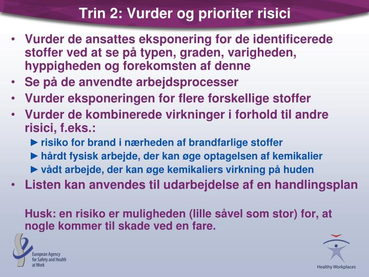 Trin 2: Vurder og prioriter risici