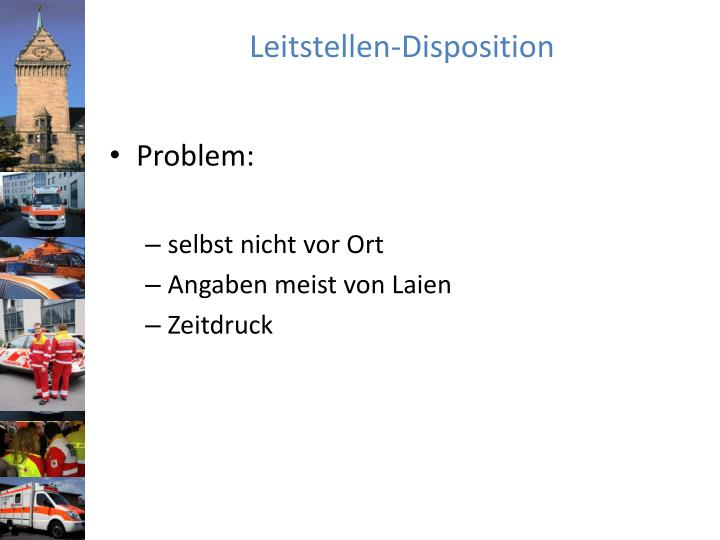 Leitstellen disposition