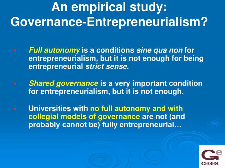 An empirical study: