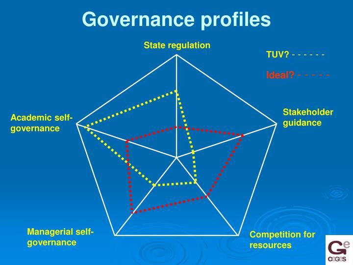 Governance profiles