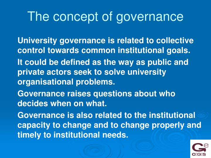 The concept of governance