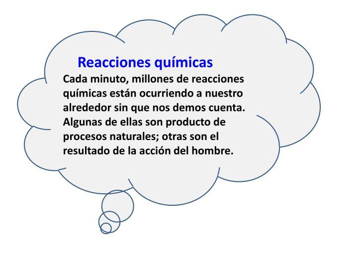 Reacciones químicas