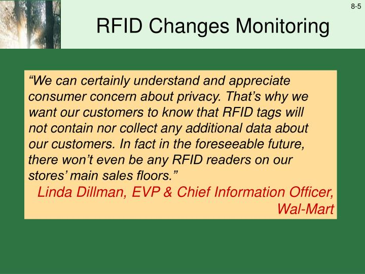 RFID Changes Monitoring