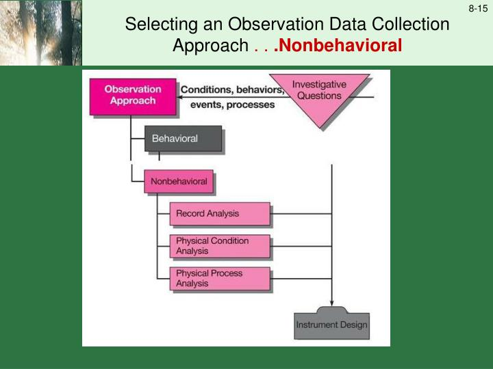 Selecting an Observation Data Collection Approach