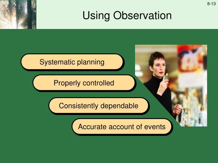Using Observation