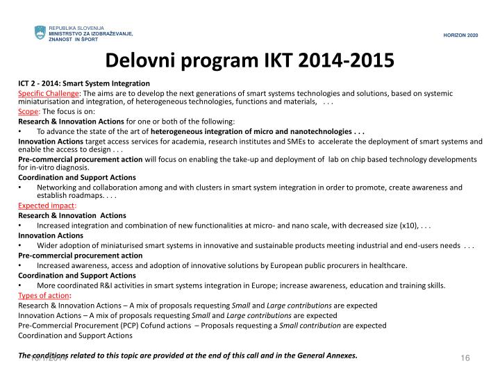 Delovni program IKT 2014-2015