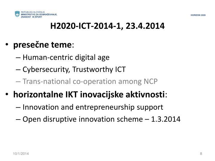 H2020-ICT-2014-1, 23.4.2014