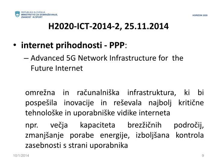 H2020-ICT-2014-2, 25.11.2014