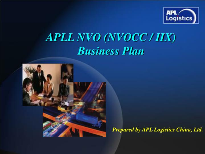 Apll nvo nvocc iix business plan