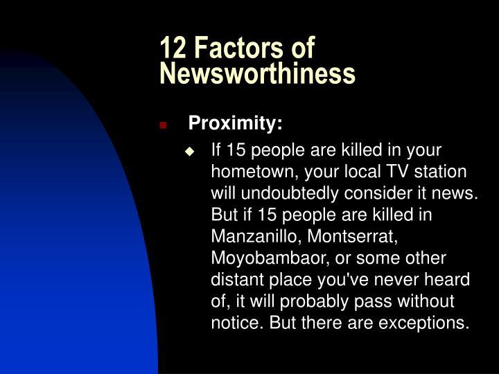 12 Factors of Newsworthiness