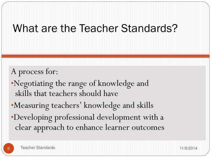 What are the Teacher Standards?
