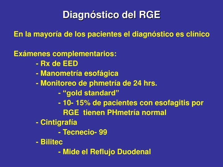 Diagnóstico del RGE