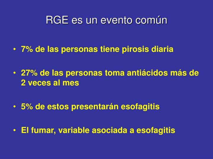 RGE es un evento común