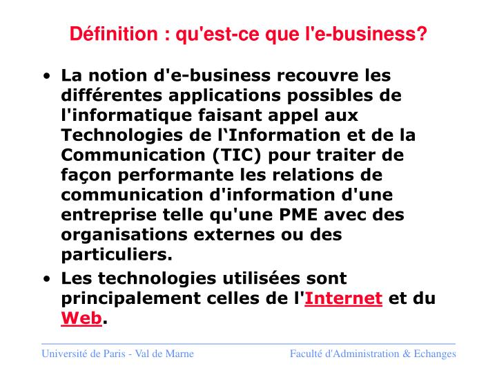 Définition : qu'est-ce que l'e-business?