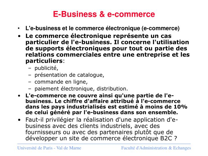 E-Business & e-commerce