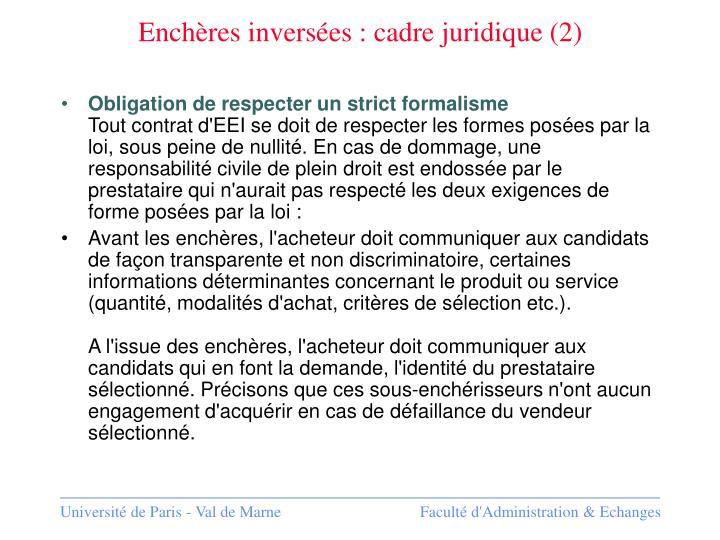Enchères inversées : cadre juridique (2)