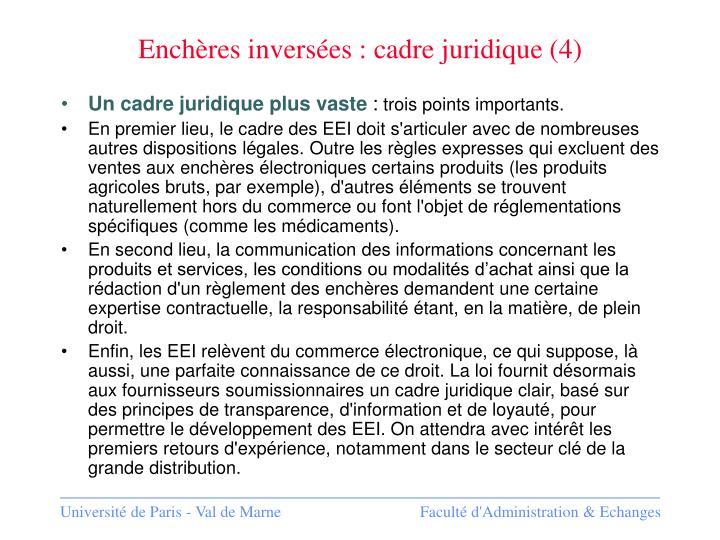 Enchères inversées : cadre juridique (4)