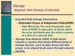 storage magnetic disk storage continued2