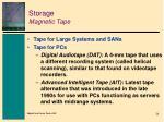 storage magnetic tape