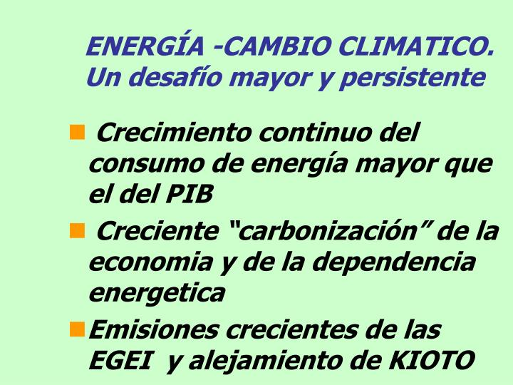 ENERGÍA -CAMBIO CLIMATICO.