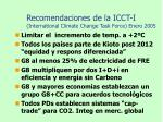 recomendaciones de la icct i international climate change task force enero 2005