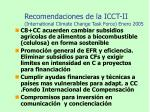 recomendaciones de la icct ii international climate change task force enero 2005