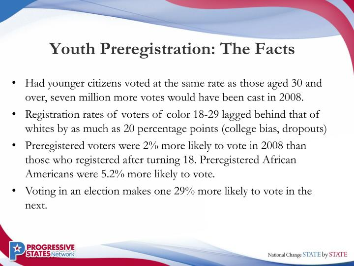 Youth Preregistration: