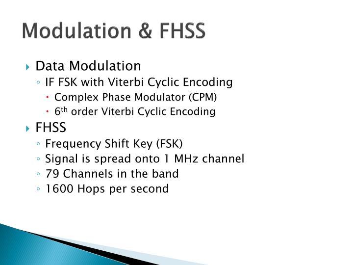 Modulation & FHSS