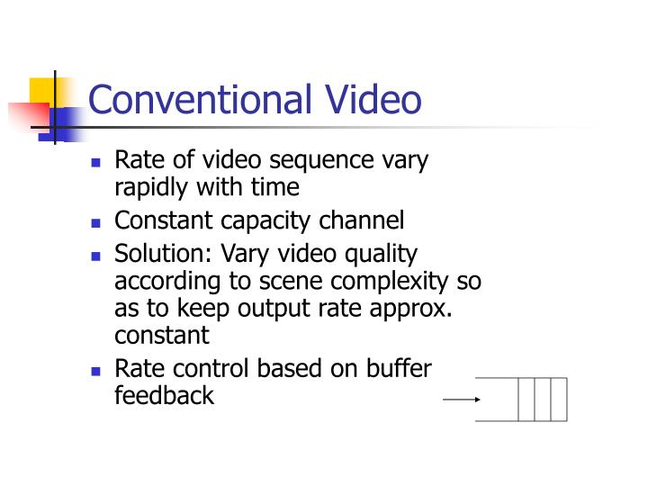 Conventional video