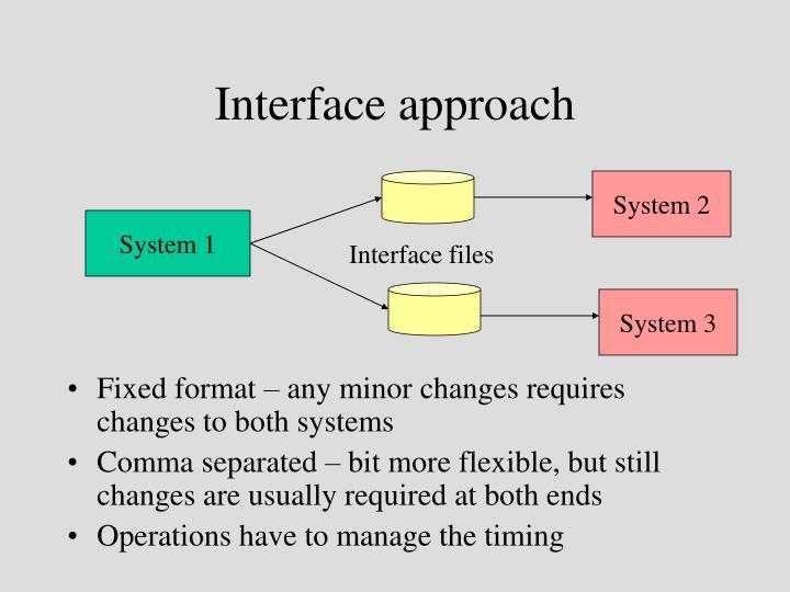 Interface approach