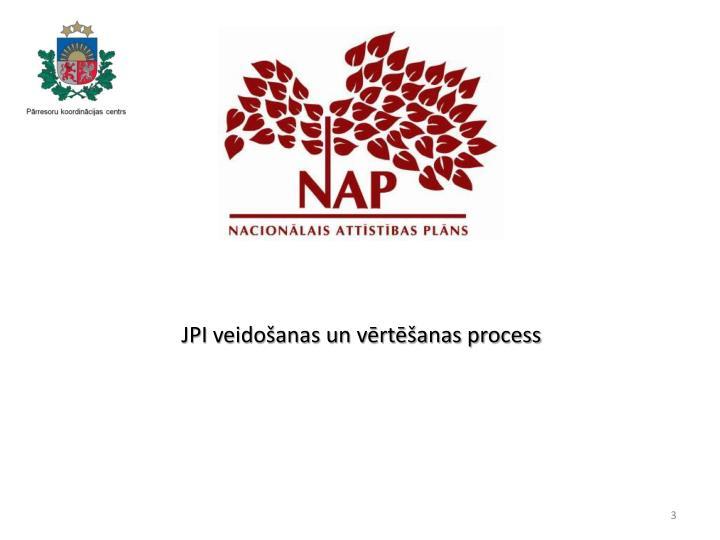 JPI veidošanas un vērtēšanas