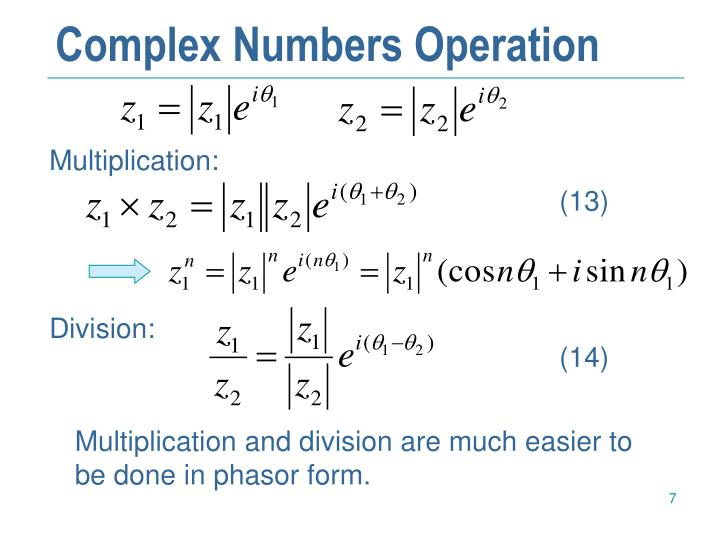 Complex Numbers Operation