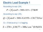 electric load example 11