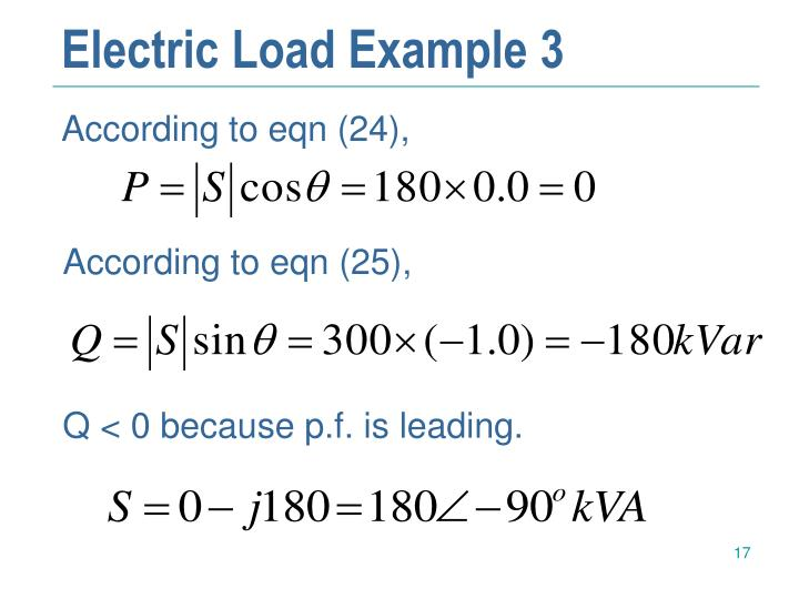 Electric Load Example 3