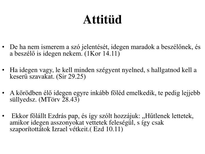 Attitüd