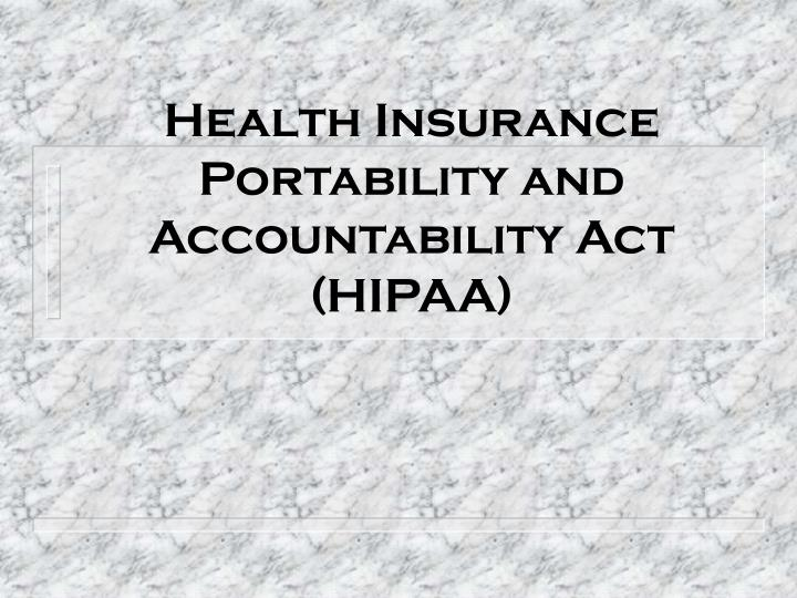 health insurance and accountability act essay The letter, citing 45 cfr § 164512(j), states that the health insurance portability  and accountability act (hipaa) privacy rule does not prevent the disclosure by.