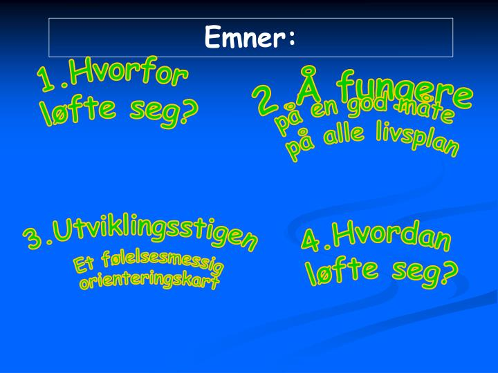 Emner: