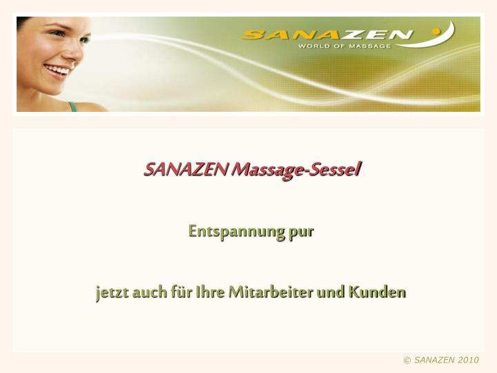 SANAZEN Massage-Sessel