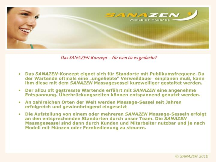 Das SANAZEN-Konzept – für wen ist es gedacht?
