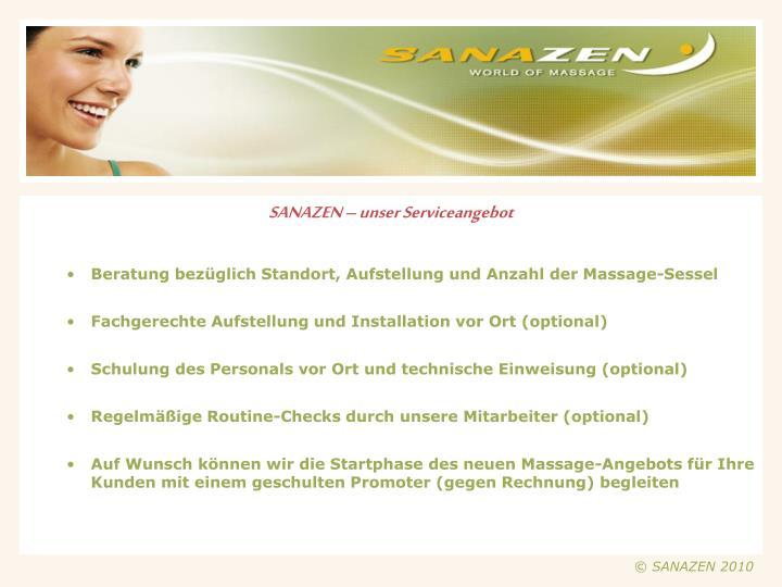 SANAZEN – unser Serviceangebot