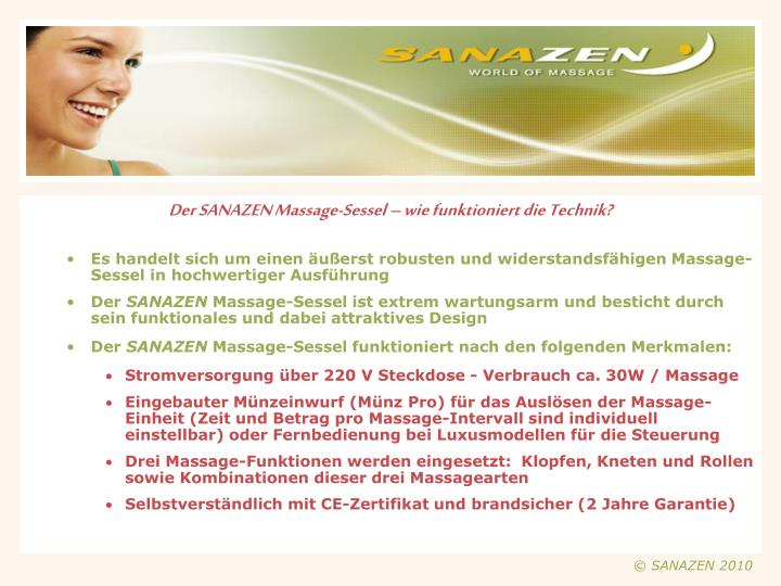 Der SANAZEN Massage-Sessel – wie funktioniert die Technik?