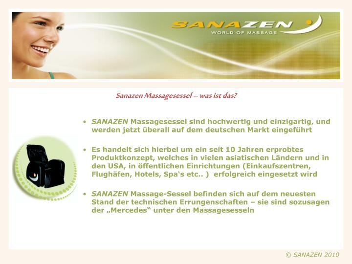 Sanazen Massagesessel – was ist das?