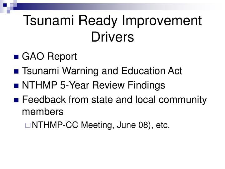 Tsunami Ready Improvement