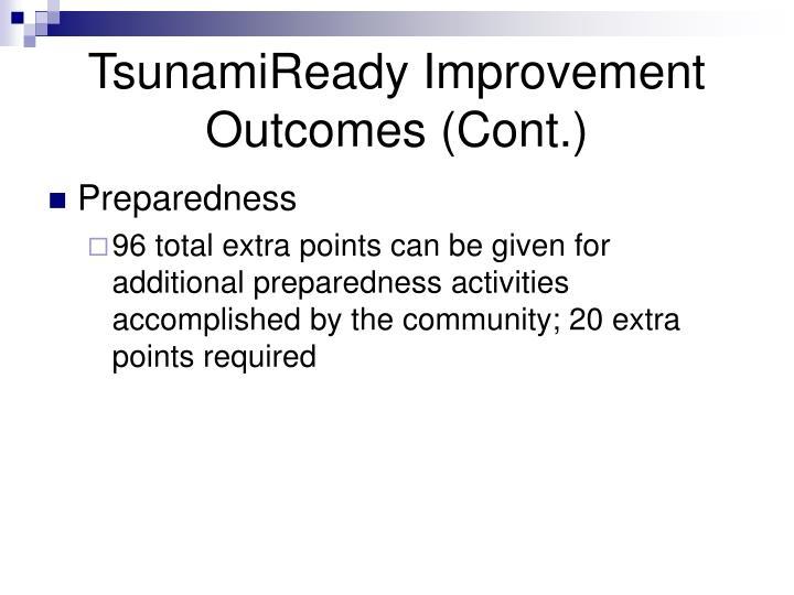 TsunamiReady Improvement Outcomes (Cont.)