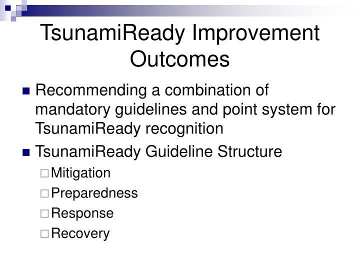 TsunamiReady Improvement Outcomes