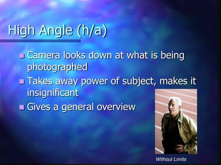 High Angle (h/a)