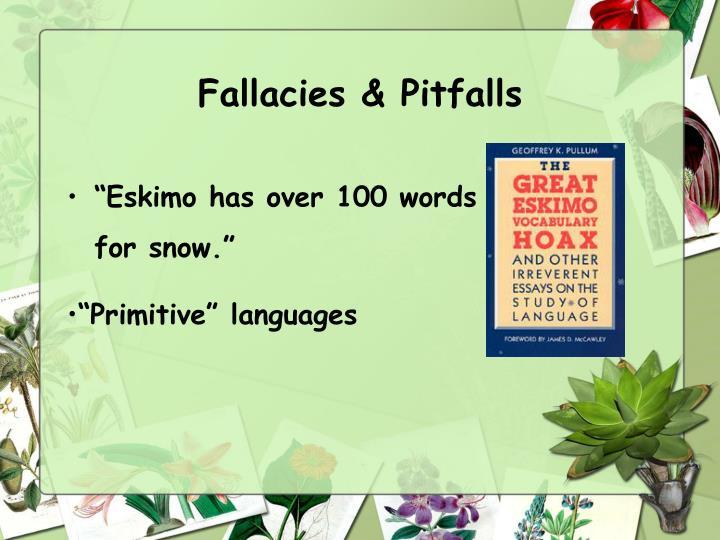 Fallacies & Pitfalls