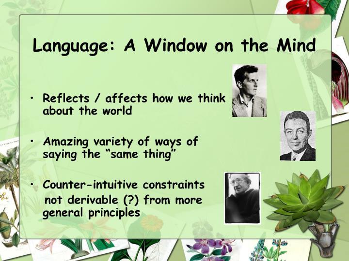 Language: A Window on the Mind