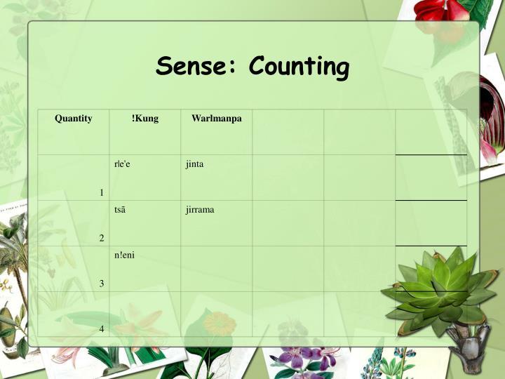 Sense: Counting